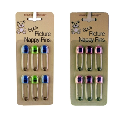 Picture of £1.49 NAPPY PINS 6 PACK (24)