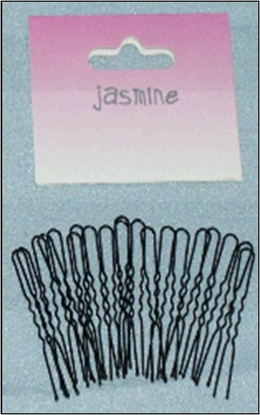 Picture of £1.00 JASMINE BLACK HAIRPINS 36 MED (6)
