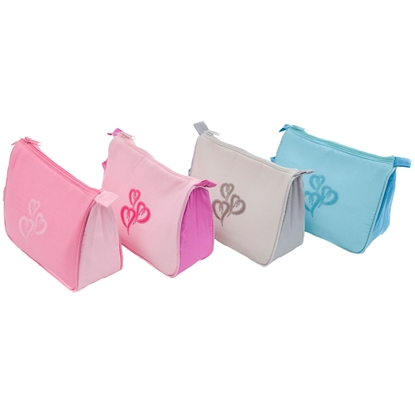 Picture of £1.49 PASTEL HEARTS COM.BAG  S672