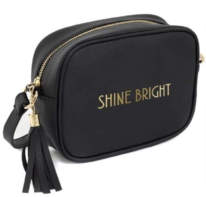 Picture of £7.99 SHINE BRIGHT SHOULD. BAG  BLK
