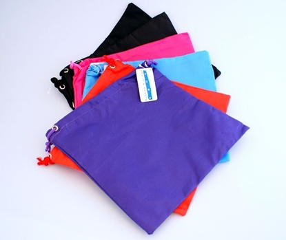 Picture of £1.49 PLAIN DARK DRAW STRING BAGS