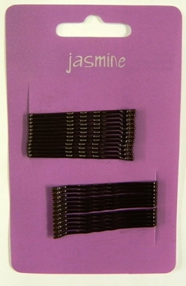 Picture of £1.00 JASMINE HAIR GRIPS 24 BROWN (6)