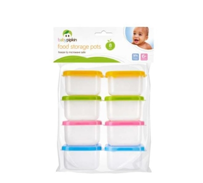 Picture of £1.79 BABY PIPKIN 8 PK STORAGE POTS (24)