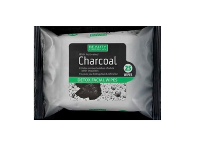 Picture of £1.00 CHARCOAL FACIAL WIPES (12) 88579