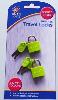 Picture of £2.49 TRAVEL CASE 2 PACK LOCKS (6)