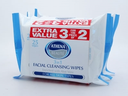 Picture of £1.19 ATHENA TRIPLE FACE WIPES BLUE