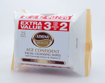 Picture of £1.19 ATHENA TRIPLE FACE WIPES BROWN
