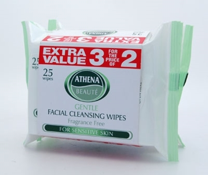 Picture of £1.19 ATHENA TRIPLE FACE WIPES GREEN (12