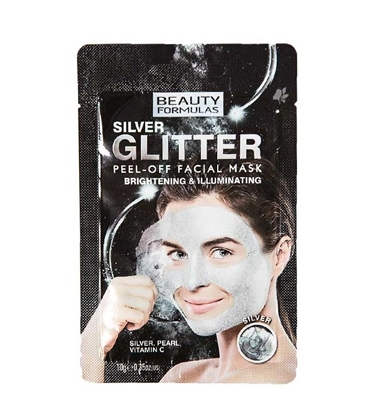 Picture of £1.00 GLITTER PEEL MASKS SILVER (24)