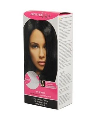 Picture of £1.00 DERMA HAIR COL. NATURAL BLACK 0.1