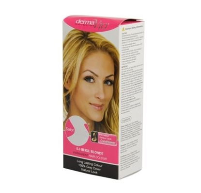 Picture of £1.00 DERMA HAIR COL. BEIGE BLONDE 8.3