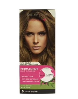 Picture of £1.00 DERMA HAIR COL. LIGHT BROWN 6