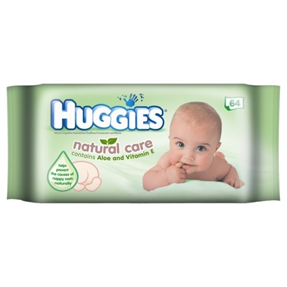 Picture of £1.00 HUGGIES BABY WIPES NATURAL (10)