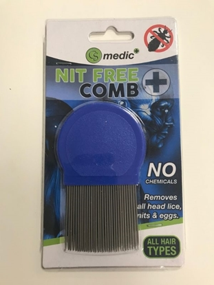 Picture of £1.49 CS MEDIC METAL TEETH NIT COMB (12)