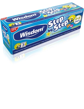 Picture of £1.00 WISDOM FIRST STEPS 0-3 T/PASTE