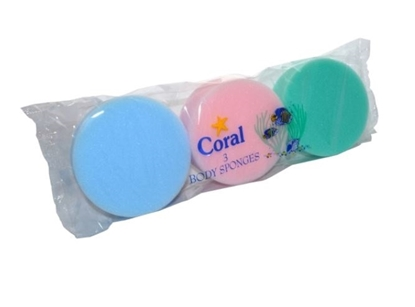 Picture of £1.00 CORAL BODY SPONGES X 3  (10)