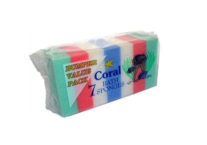 Picture of £1.00 BATH SPONGE CORAL 7 PACK (6)