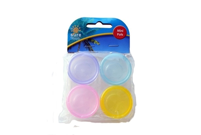 Picture of £1.29 ROUND TRAVEL POTS X 4