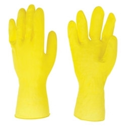 Picture of £1.00 FLOCK/L RUBBER GLOVES SMALL