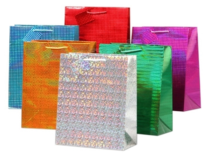 Picture of £0.99 LARGE HOLOGRAPHIC GIFT BAGS