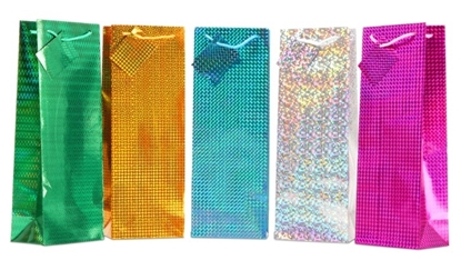 Picture of £0.79 BOTTLE HOLOGRAPHIC GIFT BAGS