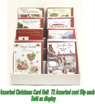 Picture of £0.99 ASSORTED CHRISTMAS CARD UNIT (72)