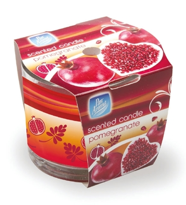 Picture of £1.00 POMEGRANATE SLEEVE CANDLE (12)