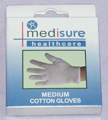 Picture of £1.99 MEDISURE COTTON GLOVES MEDIUM (6)