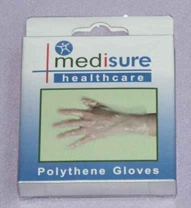 Picture of £1.79 MEDISURE 25 POLYTHENE GLOVES