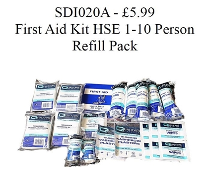 Picture of £6.99 QUALICARE FIRST AID KIT REFIL