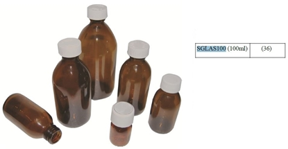 Picture of 100ML PRE-CAPPED GLASS BOTTLES (40)