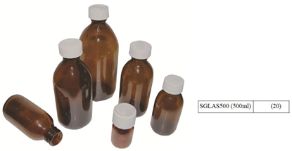 Picture of 500ML PRE-CAPPED GLASS BOTTLES (20)