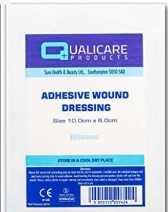 Picture of £0.25 QUALICARE 10x8cm ADHES.WOUND (50)