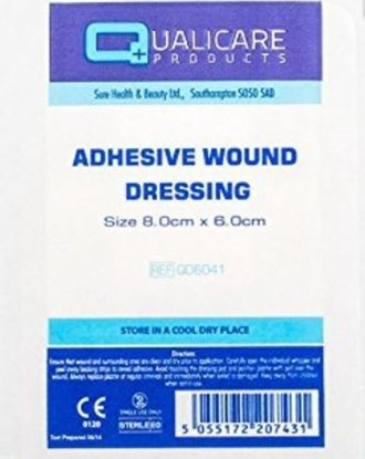 Picture of £0.25 QUALICARE 8x6cm ADHES.WOUND (100