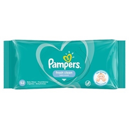 Picture of £1.00 PAMPERS BABY WIPES FRESH 52s(12)