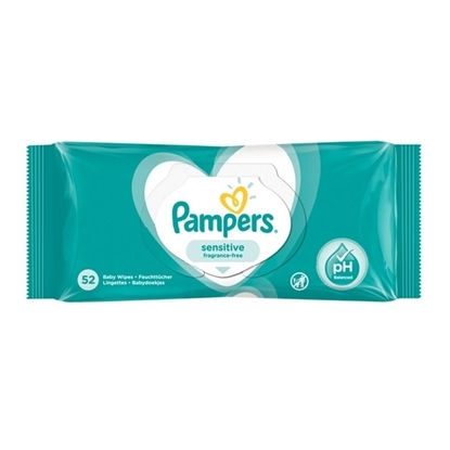 Picture of £1.00 PAMPERS BABY WIPES SENS. 52s (12)
