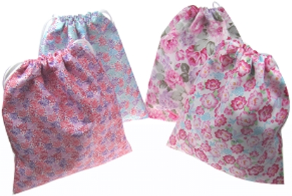 Picture of £1.49 FLORAL DRAWSTRING BAGS