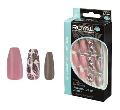 Picture of £2.99 ROYAL HIPSTER CHIC NAILS (6)