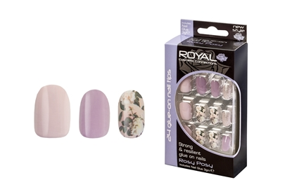 Picture of £2.99 ROYAL ROSY POSY NAILS (6)