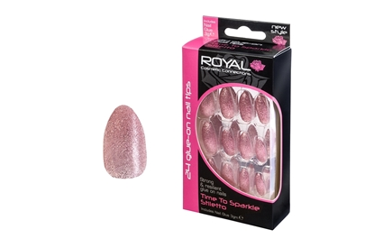 Picture of £2.99 ROYAL TIME TO SPARKLE NAILS (6)