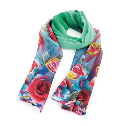 Picture of £3.99 FLOWER DESIGN SCARVES 2 ASST (2)