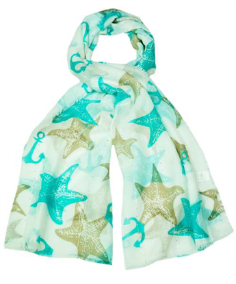 Picture of £6.99 STARFISH DESIGN SCARVES 4 ASST (12
