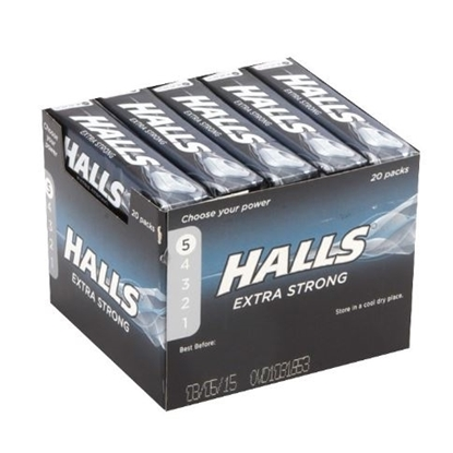 Picture of £0.69 HALLS EX STRONG 35.5g (20)