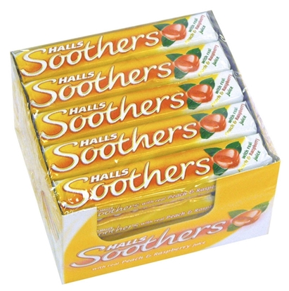 Picture of £0.69 HALLS SOOTHERS PEACH & RASP 45g(20