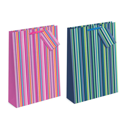 Picture of £0.79 GIFT BAG MED STRIPES (12)