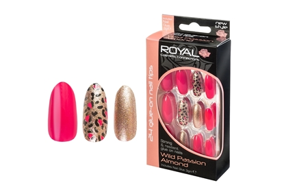 Picture of £2.99 ROYAL PASSION ALMOND NAILS (6)