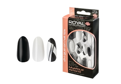 Picture of £2.99 ROYAL MYSTIQUE ALMOND NAILS (6)