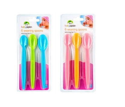 Picture of £1.79 BABY PIPKIN 6 PACK WEAN SPOONS(24)