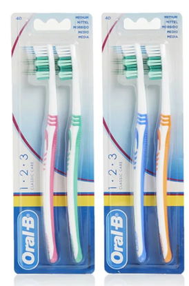 Picture of £1.00 ORAL B TWIN MED. TOOTHBRUSHES (12