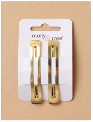 Picture of £1.00 MOLLY ROSE RECTANGLE GILT SLIDES(6